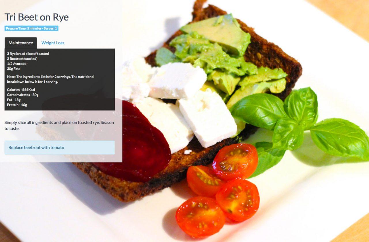 Beetroot-on-toast